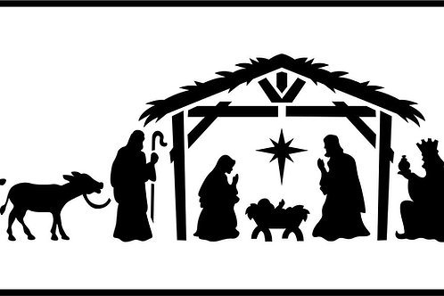 Nativity Scene, JRV Stencil