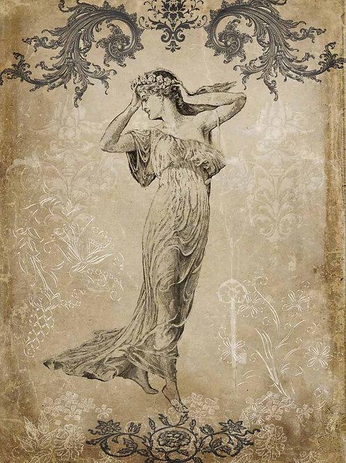 Antique Goddess, Decoupage Queen Rice Paper