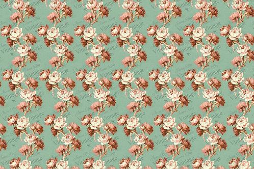 """Cottage Floral, JRV Decoupage Paper, 30"""" x 20"""""""
