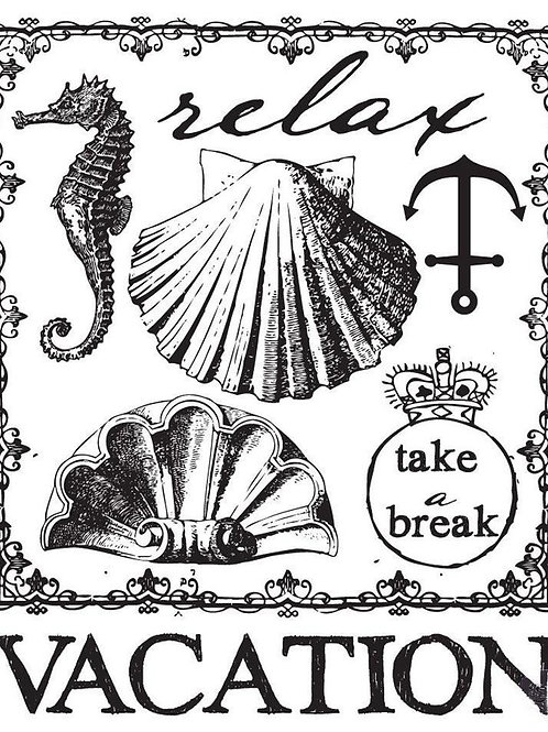 """Seashore Clear Stamps 2"""" x 2""""  8 Pieces"""