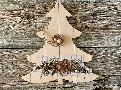 11th Day of a Woodland Christmas FB Video Workshop: Faux Pallet Tree