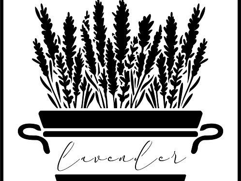 Big Lavender Plant, JRV Stencil