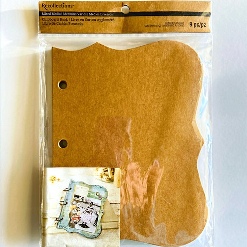 Chipboard Banner Book for Mixed Media