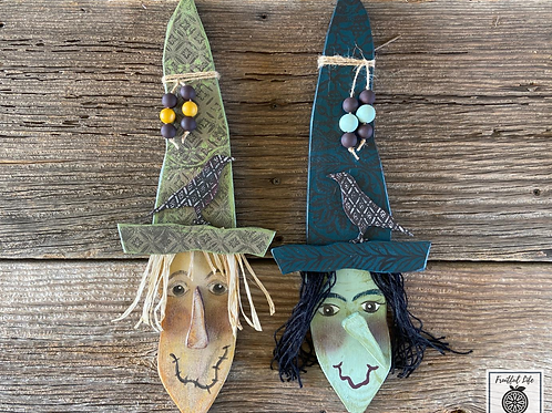 Witch, Hand-painted, Wood,  Made in USA