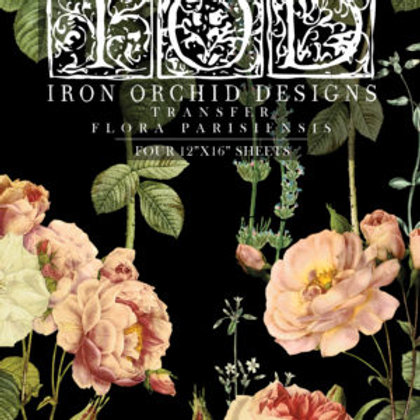 "Flora Parisiensis, IOD Decor Transfer Pad, 12"" x 16"""