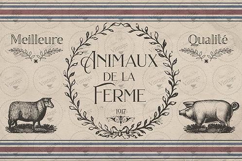 "De La Ferme, JRV Decoupage Paper, 30"" x 20"""