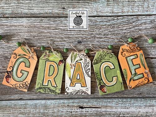 Thanksgiving Grace Wood Banner Kit & Workshop