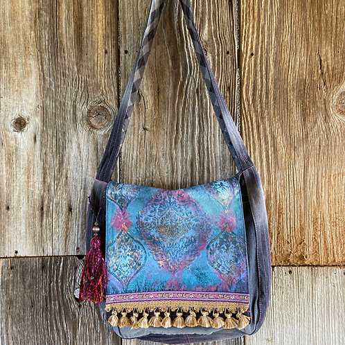 Boho Hand Painted Messenger Bag