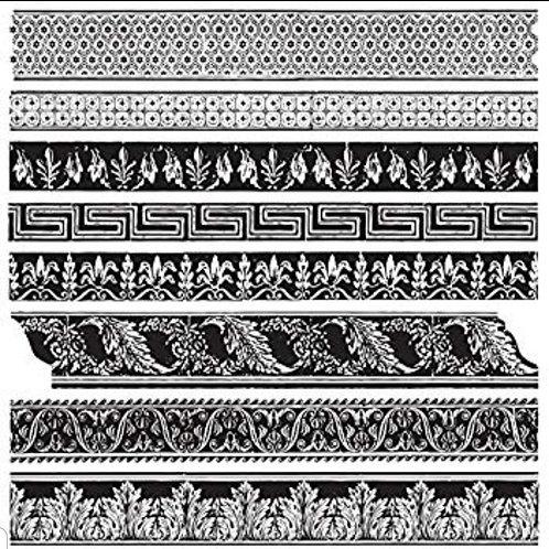 Medium Trims, IOD 1st Gen Decor Stamps