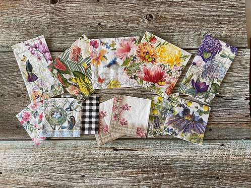 Napkin Collection for Decoupage With DIY Liquid Patina