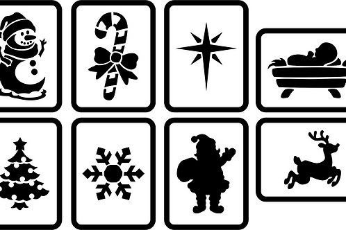 "Mini Christmas Signs JRV (8) 4"" x 5"""