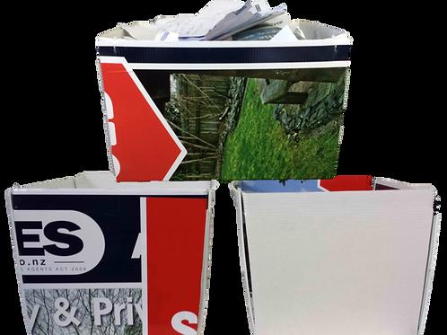 Corflute Recycling Bin