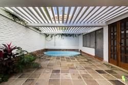 Área de piscina de casa
