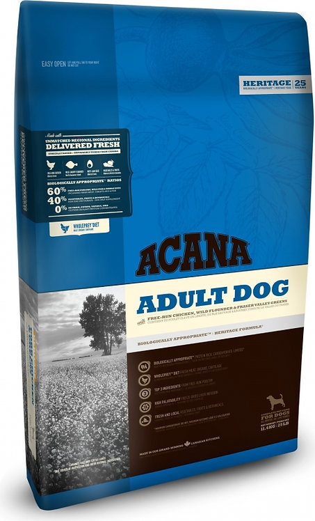ACANA Adulte dog tous âges et toutes races 3 viandes