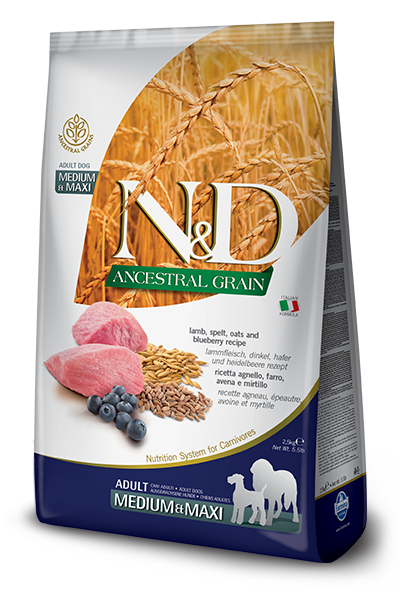 FARMINA N&D Low Grain Agneau & Myrtille Adulte medium & maxi 12kg