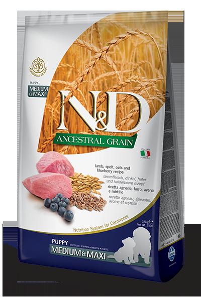 FARMINA N&D Low Grain Agneau & Myrtille Chiot Medium & Maxi