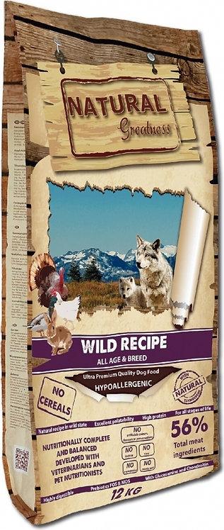 NATURAL GREATNESS Wild Recipe Sans Céréales pour Chien Adulte, fort en viande !