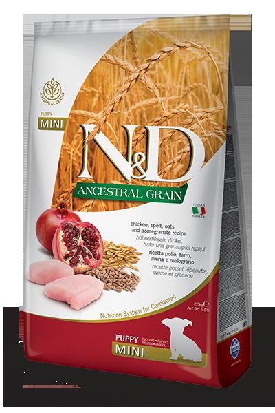 FARMINA N&D Low Grain Poulet & Grenade Chiot Mini