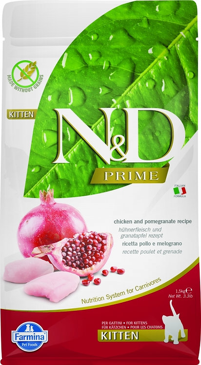 FARMINA N&D Grain Free SANS CEREALES Poulet & Grenade Chaton