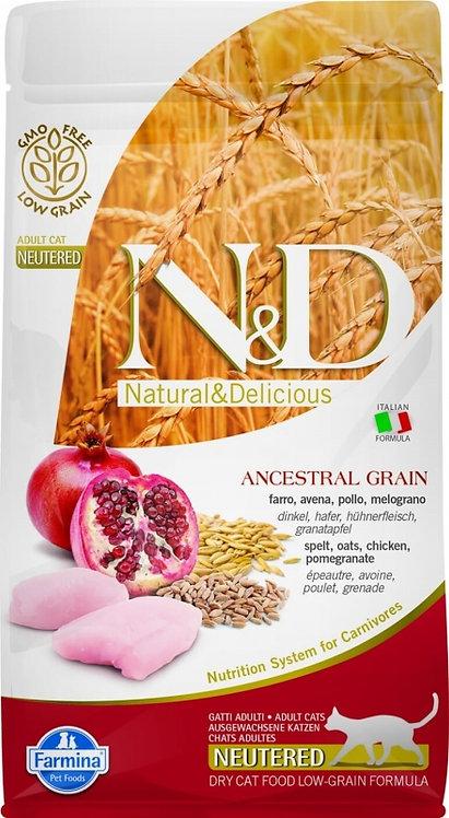 FARMINA N&D Low grain - Poulet & Grenade Chat Adulte Stérilisé