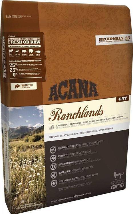 ACANA Ranchlands 5viandes pour Chat toutes races tous ages