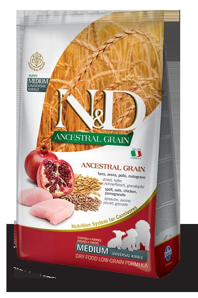 FARMINA N&D Low Grain Poulet & Grenade Chiot Medium & Maxi