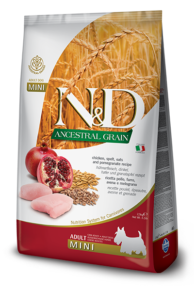FARMINA N&D Low Grain Poulet & Grenade Chien Adulte Mini 2.5kg