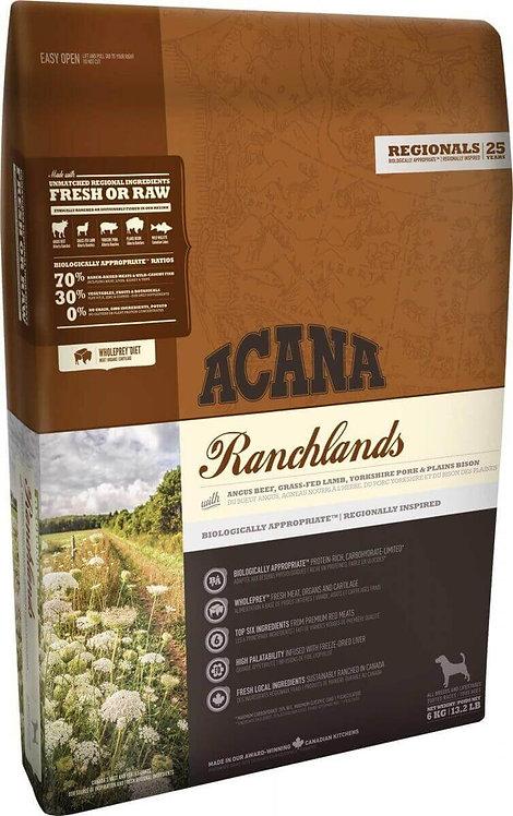 ACANA Ranchlands 5viandes pour Chien adulte toutes tailles 2 Kg