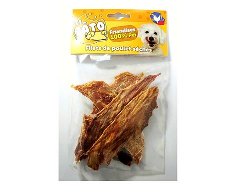 Friandises filets de poulet séché