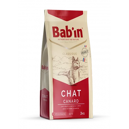 Bab'in croquette Chat Classique - Canard