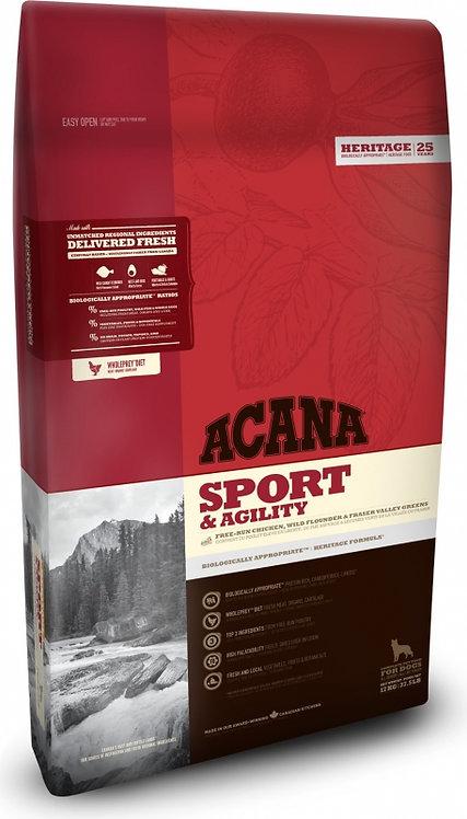 ACANA HERITAGE Sport Pour activité intense 11,4 et 17 Kg