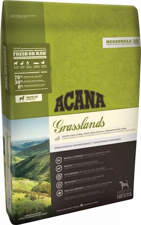 ACANA Grasslands regional 5 viandes! Chiens adulte toutes tailles 2 Kg