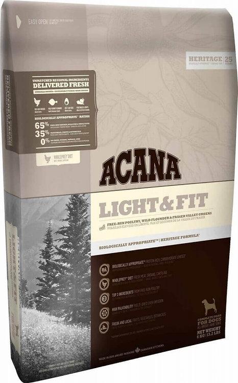 ACANA HERITAGE Light & Fit/chien en SURPOIDS 11,4 Kg
