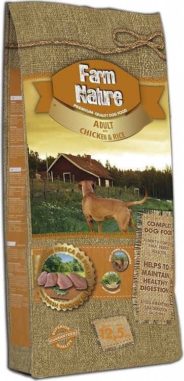 Farm nature pour chien adulte toutes races au poulet et au riz