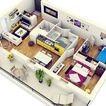Modern-Two-Bedroom-Apartment-with-Balcon