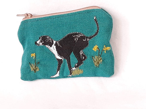 Whippet / Greyhound Embroidered Purse