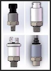 1/4 NPT, 1/8 NPT Pressure Transmitter, Ratiometric, 1-5Vdc Pressure Sensor