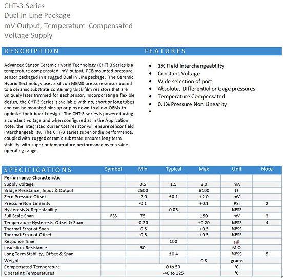 AV Sensors CHT-3 Series