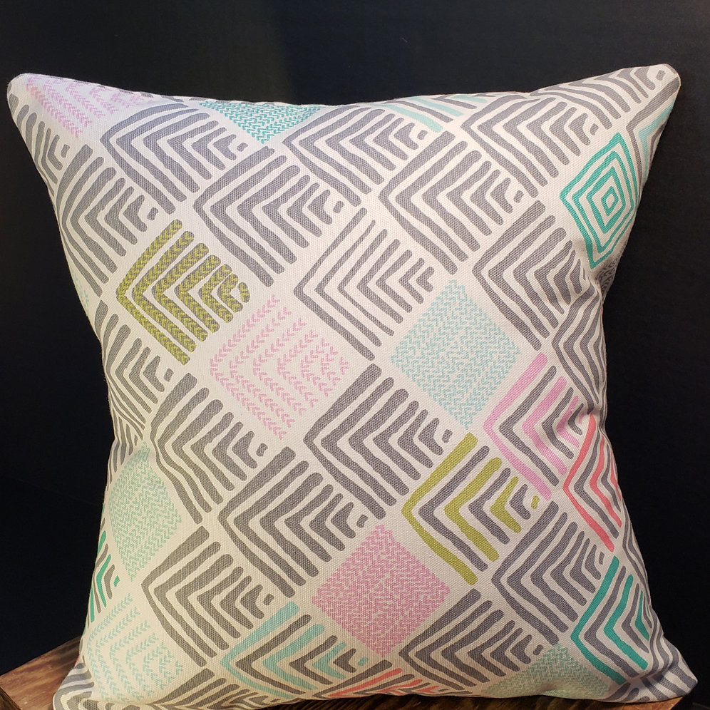 """Old Time Pottery Decorative Accent Pillows 2 88 Variety: 14"""" SPRING TIME PASTELS SQUARE PILLOW COVER"""