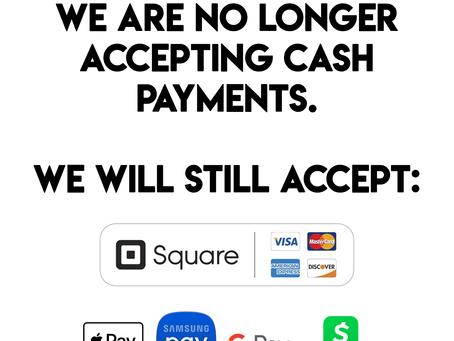 No Cash Payments