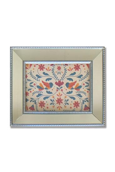 Colores Pajaritos - marco plata espejado - (cod: CP31)