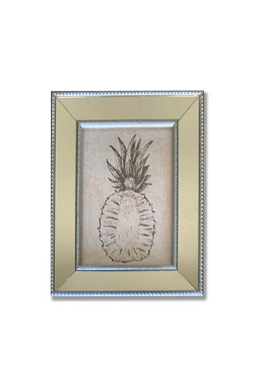 Piña - marco plata espejado - (cod: P41)