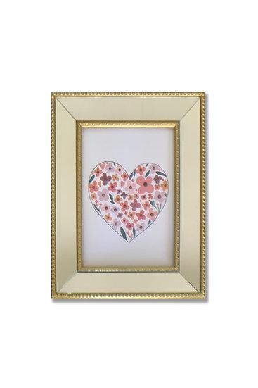 Cuadro Corazón II- marco dorado espejado - (cod:CB13)