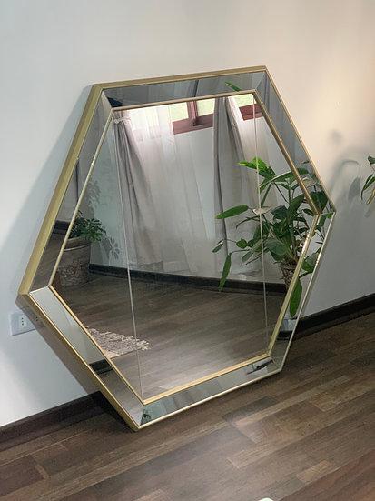 Espejo hexagonal XL - Marco espejado