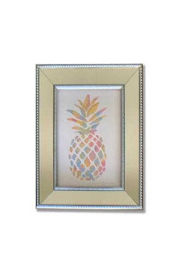 Piña Colores - marco plata espejado - (cod: PC72)