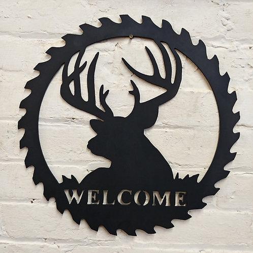 Deer/Buck Welcome Saw Ring