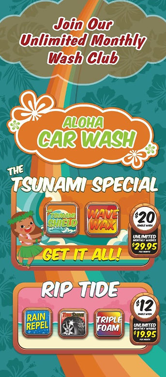 Aloha Car Wash Tsunami Unlimited Wash Cl