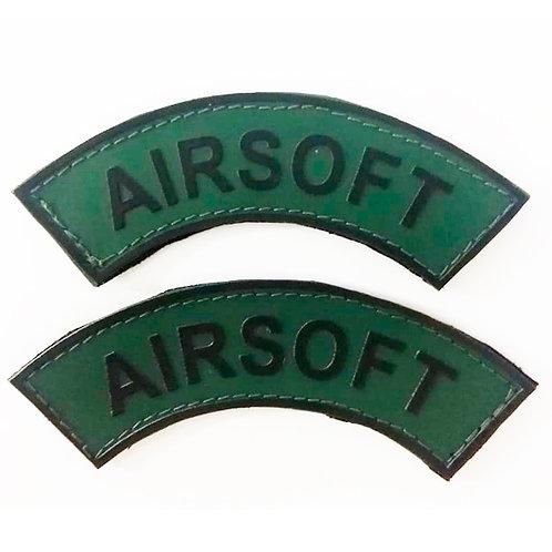 Par de Manicaca Emborrachada Airsoft Verde e Preto