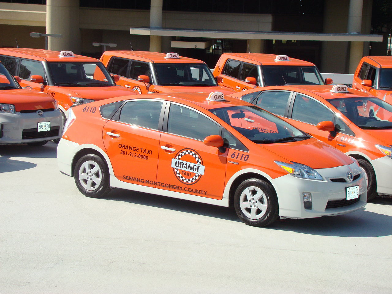 Orange Taxi Rockville Md Montgomery County Cab And