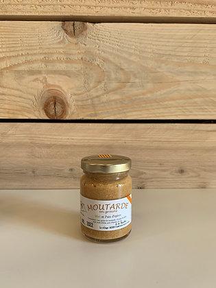 Moutarde en grains avec miel et pain d'épices